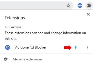 Pin AdGone Ad Blocker